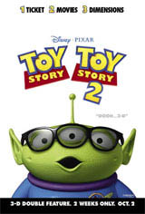 Toy Story & Toy Story 2 Double Feature in Disney Digital 3D Movie Poster